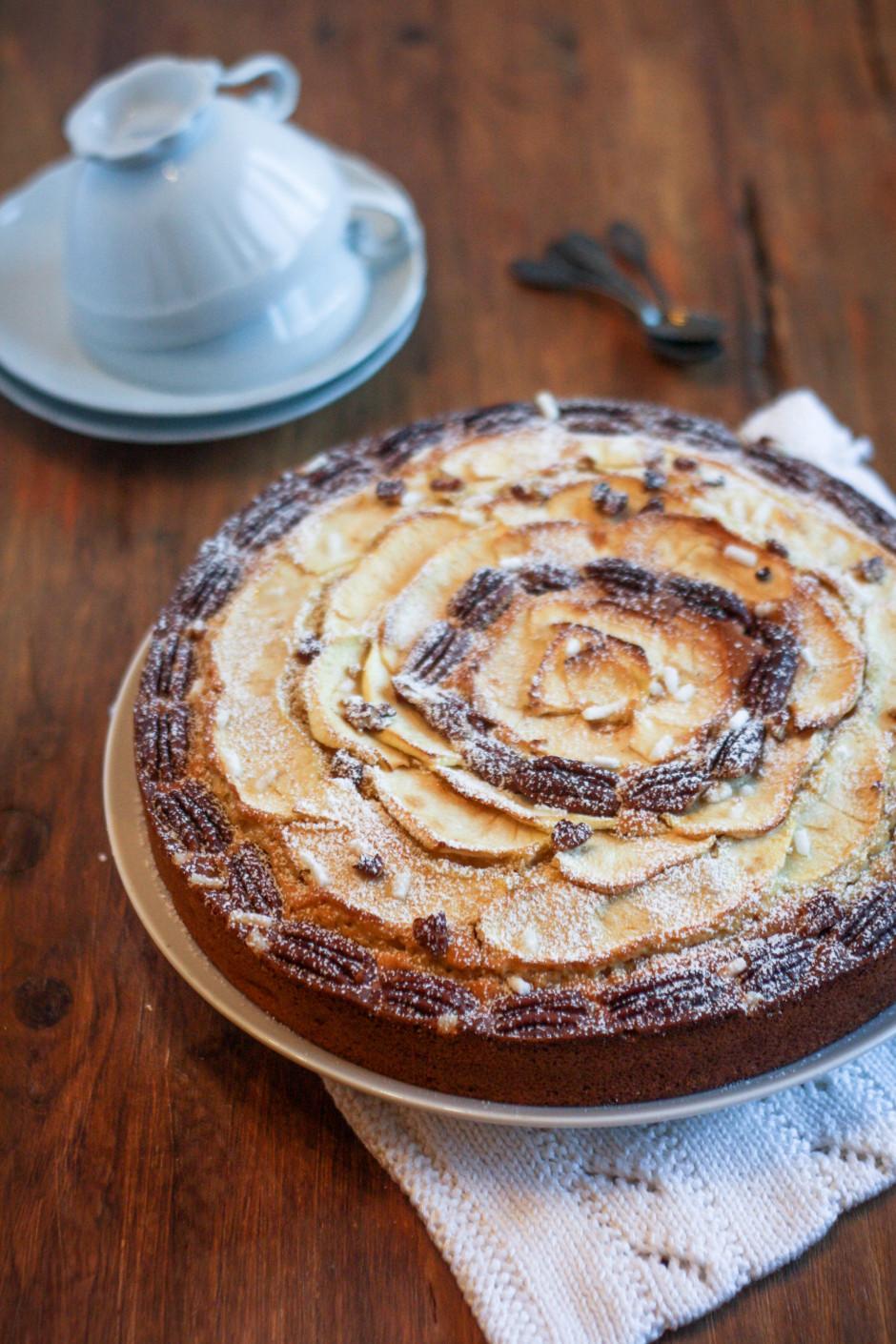 torta mele e noci pecan 940x1410 Torta di mele e noci pecan