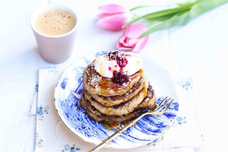 pancake al cocco e banana senza glutine