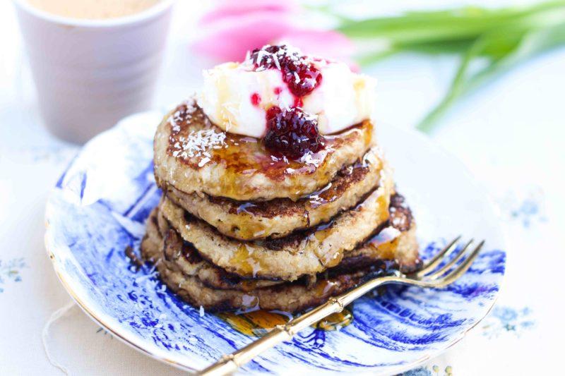 pancake cocco e banana senza glutine