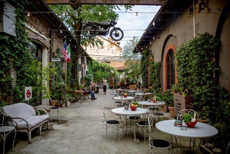 cena da Al Cortile a Milano