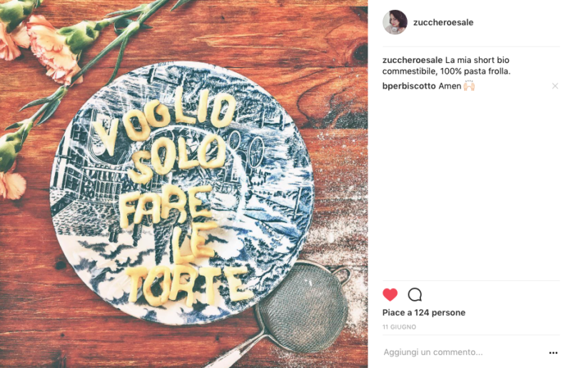 Instagram zucchero e sale