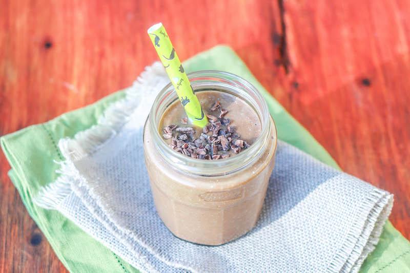 Smoothie avocado e cacao