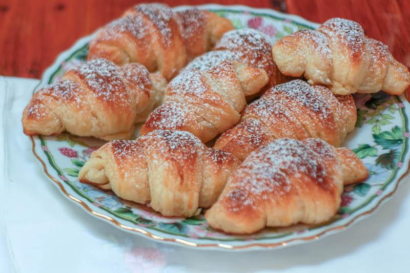 croissant sfogliati fatti in casa con metodo diretto