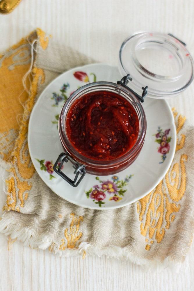 confettura di rabarbaro e lamponi ricetta
