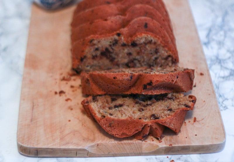 banana bread cocco e cioccolato