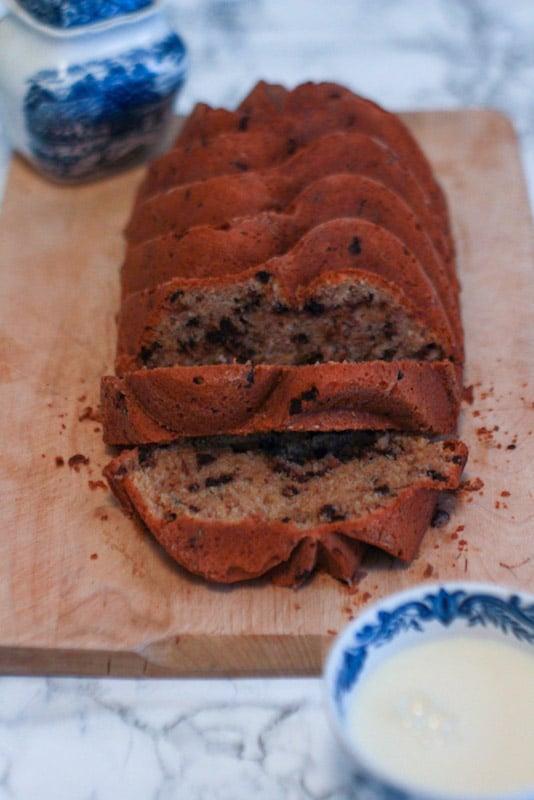 banana bread cocco e cioccolato ricetta